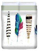 Feather Study Duvet Cover