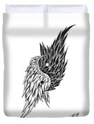 Feathered Ying Yang  Duvet Cover