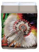 Feathers And Beads Duvet Cover