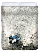 Feathers And Mussel Duvet Cover