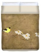 Feathers And Petals I Duvet Cover