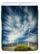 Feathers In The Sky Duvet Cover