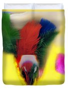 Feathers In Wine Glass Duvet Cover