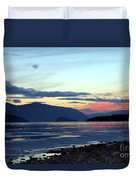 February At Dusk Duvet Cover