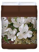 February Flowers Duvet Cover