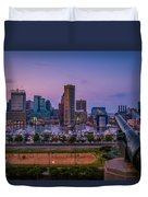 Federal Hill In Baltimore Maryland Duvet Cover