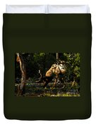 Feeding Elk Duvet Cover