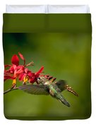 Feeding Hummer Duvet Cover