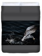 Feeding Seagull Duvet Cover