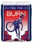 Feel The Burn Duvet Cover by Sassan Filsoof