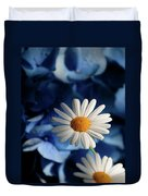 Feeling Blue Daisies Duvet Cover