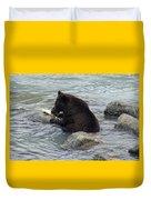 Feasting Bear Duvet Cover