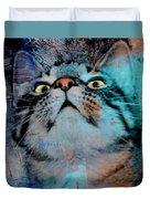 Feline Focus Duvet Cover
