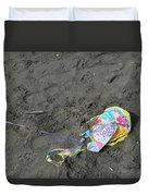 Feliz Cumpleanos Mylar On The Beach Duvet Cover