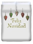 Feliz Navidad Spanish Merry Christmas Duvet Cover