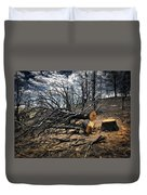 Felled After The Wildfire Duvet Cover