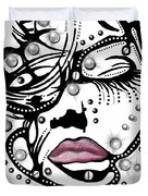 Female Abstract Face Duvet Cover by Darren Cannell