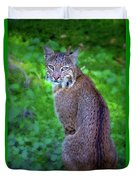 Female Bobcat Duvet Cover