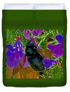 Female Carpenter Bee On Penstemons Duvet Cover