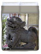 Female Chinese Guardian Lion Duvet Cover