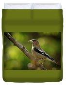 Female Evening Grosbeak - 365-55 Duvet Cover