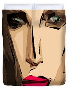 Female Expressions Xiv Duvet Cover