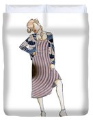 Female Fashion Collage Duvet Cover