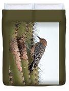 Female Gila Woodpecker-img__2691-2016 Duvet Cover