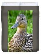 Female Mallard Duck Close Up Duvet Cover