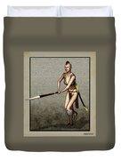 Female Pike Guard - Warrior Duvet Cover