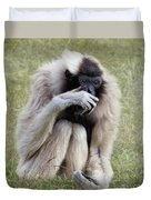 Female Pileated Gibbon, Gladys Porter Zoo Duvet Cover
