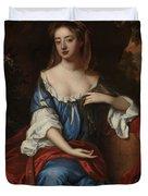 Female Portrait Duvet Cover