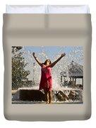 Femme Fountain Duvet Cover by Al Powell Photography USA