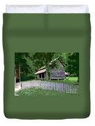 Fence And Cabin Duvet Cover