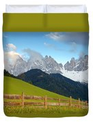 Fence At Val Di Funne Duvet Cover