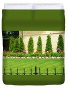 Fence Lined Garden Duvet Cover