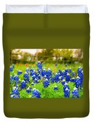 Fence Me In With Flowers Duvet Cover