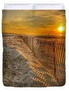 Fence On The Beach Duvet Cover