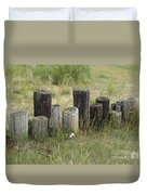 Fence Post All In A Row Duvet Cover