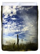 Fence Post And New Mexico Sky Duvet Cover