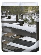 Fence Post At Donner Lake Area Covered Duvet Cover
