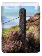 Fence Post In The Peak District Duvet Cover