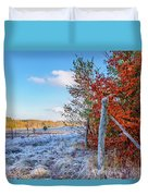 Fenced Autumn Duvet Cover