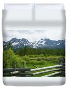 Fenced In Sawtooths Duvet Cover
