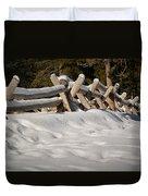 Fenced In White Duvet Cover