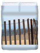 Fenced Off Beach Duvet Cover