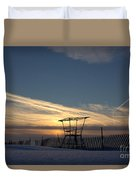 Fencing On Look Out 2 Duvet Cover