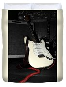 Fender Guitar And Amp In Selective Color Duvet Cover