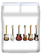 Fender Guitar Collection Duvet Cover