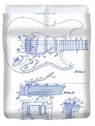 Fender Guitar Patent Drawing Duvet Cover